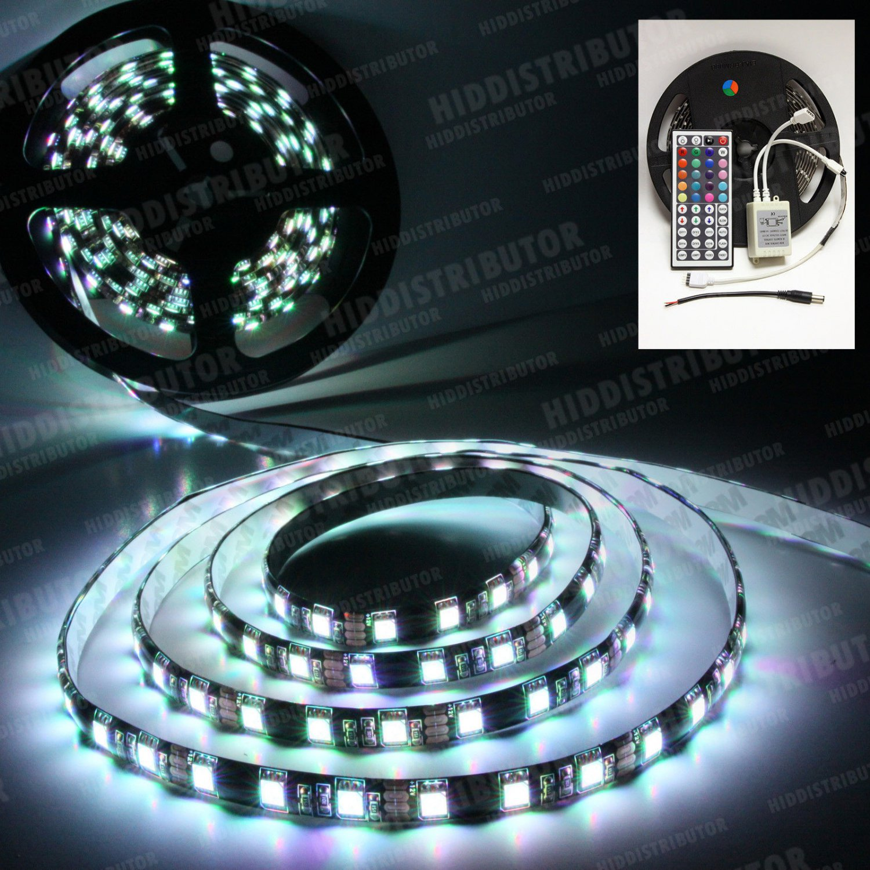 5m RGB 5050 SMD LED 300 LEDS Flexible Waterproof Light Strip Remote 44 Key