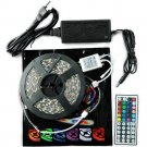 5M SMD RGB 5050 Waterproof Strip light 300 LED 44 Key IR Remote 12V 6A power