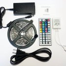RGB 5M 16 Feet Indoor LED Light Strip SMD 5050 Remote 12V 2A Power