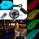 5M SMD RGB 5050 Waterproof Strip light 300 LED 44 Key IR Remote 12V Power