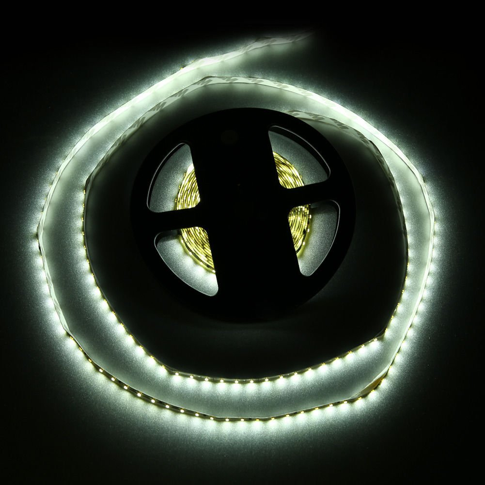 Pure White 5M Non-Waterproof 3014 SMD 600LED Light Strip Power Supply 12V 60W