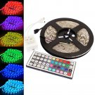 5M RGB 5050 SMD 300 LED Lamp Strip waterproof Light DC 12V With IR 44 Key Remote