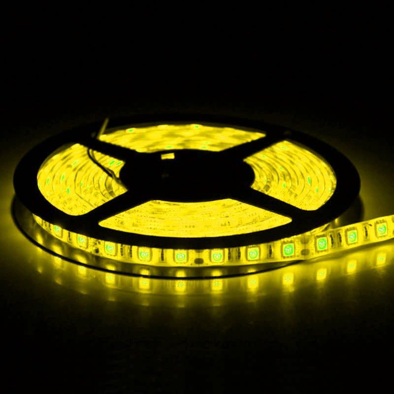 Yellow 5M 12V IP65 Waterproof 150 LED StripLight 5050 SMD String Ribbon TapeRoll