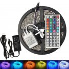 5M SMD RGB 5050 Waterproof 300 LED Strip light & 44 Key Remote & 12V 5A power
