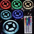 5M SMD RGB 5050 Waterproof Strip light 300 LED 44 Key IR Remote 12V 5A power