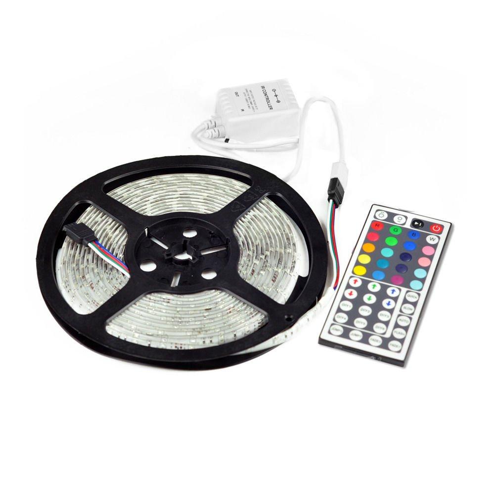 New 5M SMD RGB 3528 Waterproof Strip light 300 LED strip 44 key IR controller