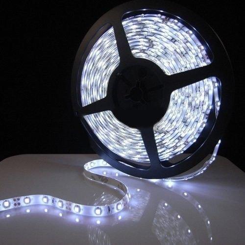 White Waterproof 5050 SMD 300LED 5M 60LED-M Light Strip Lamp Car Flexible 12V