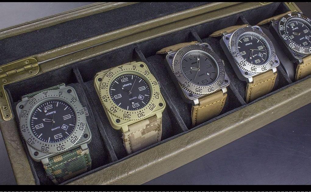 Infantry High Quality Date Analog Lume Dial Quartz Military Sport Wrist Watch