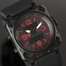 Infantry Mens Luxury Lcd Digital Quartz Wrist Watch Alarm Date Day Stopwatch