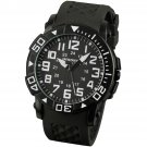 New Black Infantry Mens Sport Quartz Wrist Watch Rotatabel Bezel Rubber strap