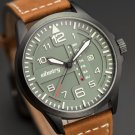 Infantry Hawker Glow in Dark Quartz Leather Mens Wrist Watch Vx43e11c