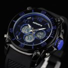 Infantry Luxury Army Tactical Sport Quartz Digital Mens Rubber Strap Wrist Watch
