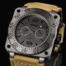 Infantry Mens MIlitary Sport Quartz Luxury Genuine Leather Wrist Watch Luminous