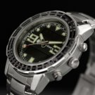 Infantry Mens Classic Analog Quartz Sport LCD Wrist Watch Silver Stainless Steel