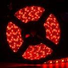 Red Waterproof 5050 SMD 300Leds 5M Flexible LED Strip Light DC12V Black PCB