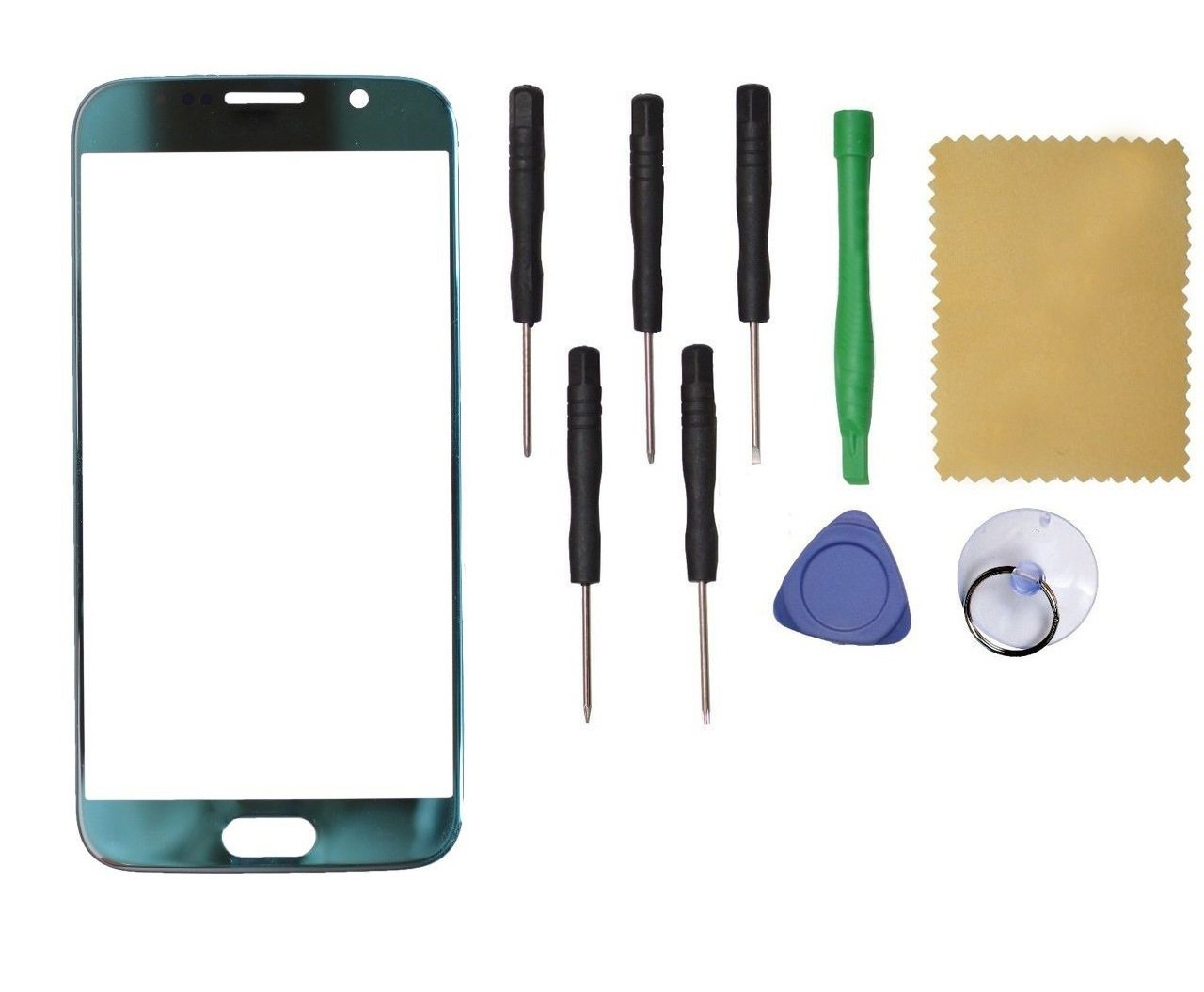 Samsung Galaxy S6 G920 Front Outer Touch Screen Glass Replacement Blue