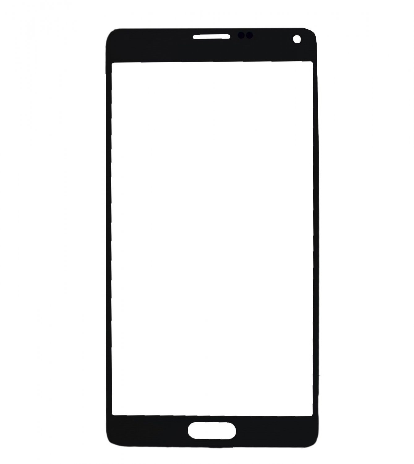 Samsung Galaxy Note 4 N910 Front Glass Lens  Black