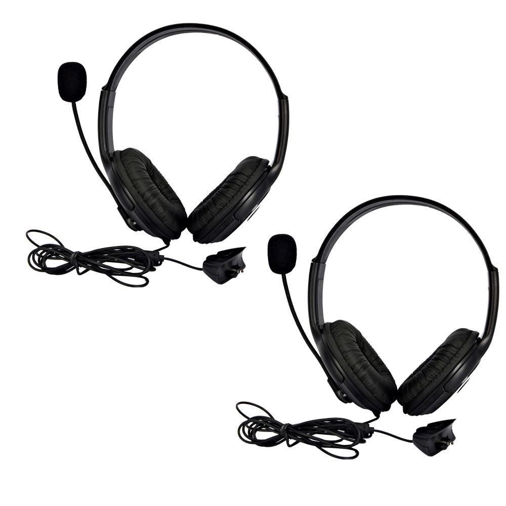 Lots of 2 Big Live Headset with Microphone MIC for Xbox 360 Controller Black