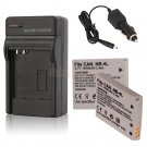 2 NB-4L Battery,charger for Canon PowerShot ELPH 100 300 HS IXUS 115 220