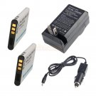2x D-Li88 DLI88 Battery,Charger for Pentax Optio H90 P70 P80 W90 WS80