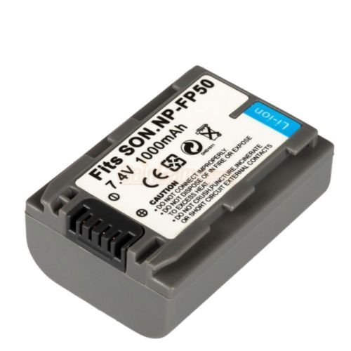 New NP-FP50 Battery for Sony DCR-DVD105 DVD403 DVD305 DVD205 HandyCam Charger
