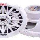 Pair New Pyle PLMR692 260 Watts 6 x 9 2 Way White Marine Speakers Kit