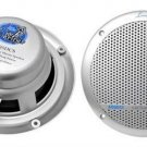 New Lanzar AQ5DCS Silver Pair 300 Watts 5.25 Marine Boat Waterproof Speakers