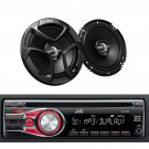 KDR330 In Dash Car Stereo CD MP3 AUX Player Bluetooth JVC 6.5 Audio Speakers