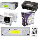 New AM FM MP3 USB SD AUX Media Receiver w Remote Pair of 3.5 Box Speakers White