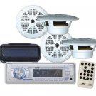 """New Marine Yacht Boat MP3 USB AUX Radio 4 x 6.5"""" Speakers Stereo Cover & Remote"""