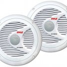 New Pyle PLMR60W Pair 150Watts 6.5 2 Way White Marine Boat Waterproof Speakers