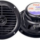 Pyle PLMR67B Black Pair New 6.5 120 Watt Marine Car Boat Waterproof Speakers