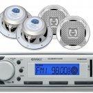 Lanzar 6.5 2Way 400W Marine Speakers, Enrock Marine USB AM FM AUX Mp3 Receiver