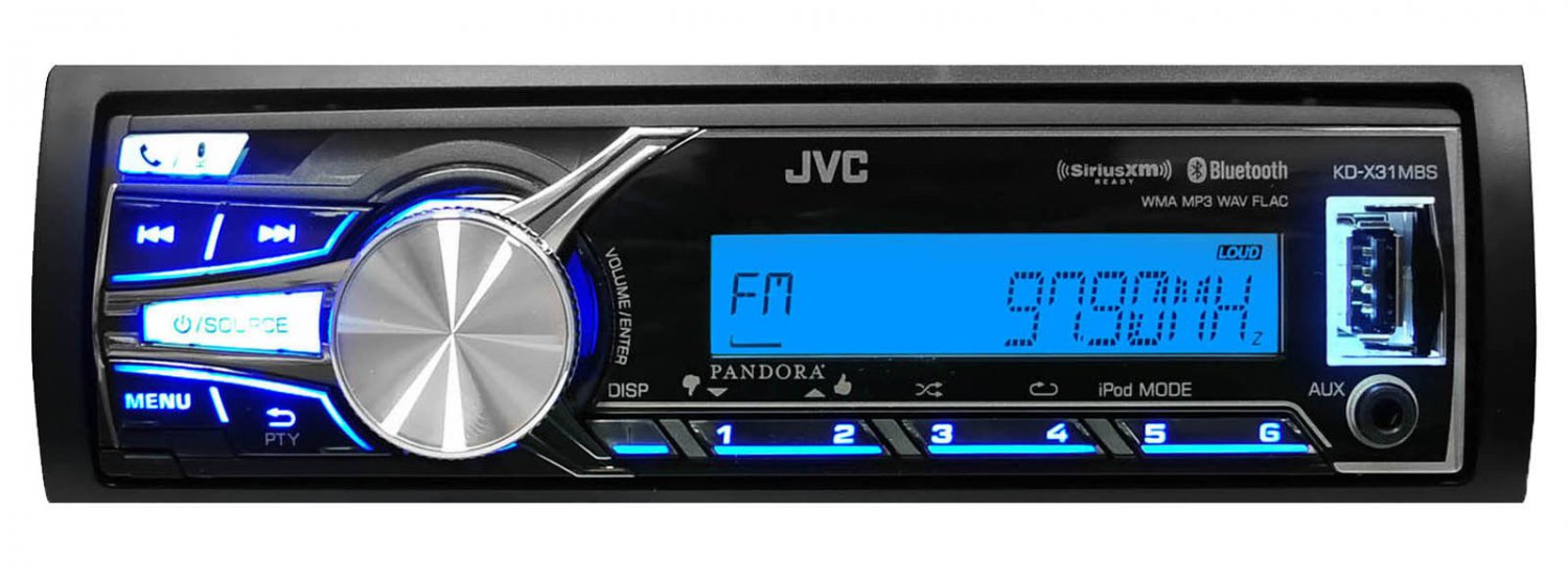 New JVC KD-X31MBS Marine Boat Bluetooth USB AUX SD iPod iPhone Pandora Receiver