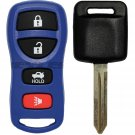 New Blue Keyless Entry Remote Key Fob Clicker Transmitter & Uncut Ignition Chip