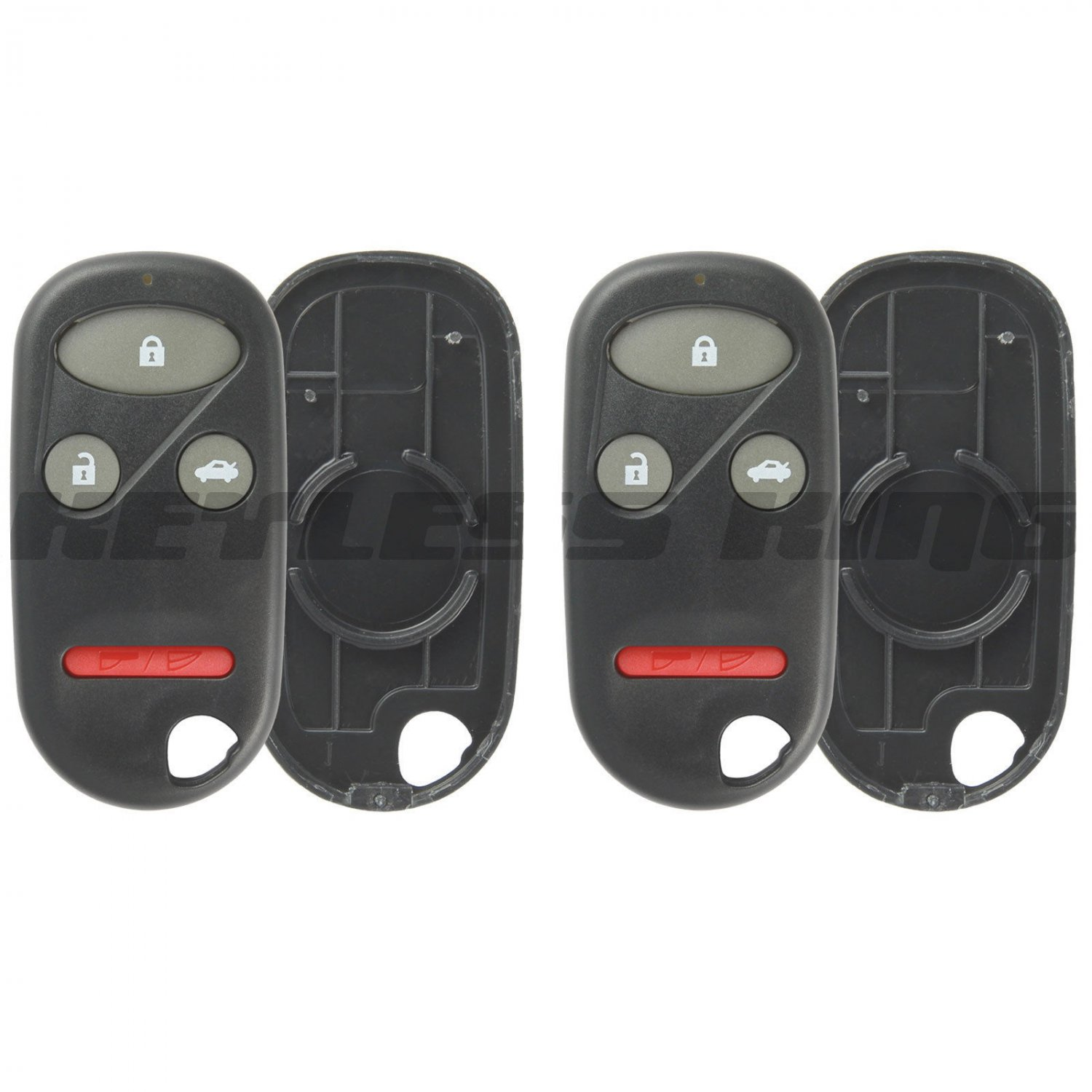 2 New Replacement Keyless Entry Remote Shell Pad Case Fix Key Fob Clicker Rubber