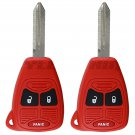 2 New Red Remote Head Ignition Key Keyless Entry Combo Clicker Transmitter Fob