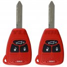 2 New Red Uncut Remote Head Key Keyless Entry Combo Transmitter Fob Hatch Gate