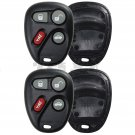 2 New Replacement Keyless Remote Key Fob Clicker Shell Case Button Pad Repair