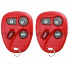 2x Red Replacement Keyless Entry Remote Key Fob Clicker for 25665574 25665575