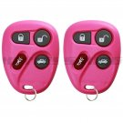 2x Pink Replacement Keyless Entry Remote Key Fob Clicker for 25665574 25665575