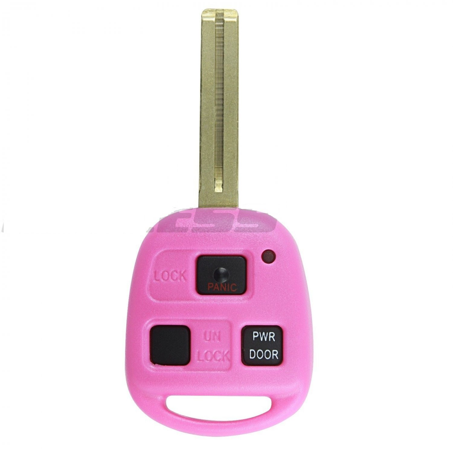 New Pink Uncut Ignition Master Key Keyless Entry Remote Head Fob Power Gate