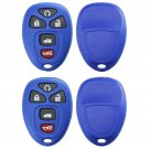 2 New Blue Replacement Keyless Entry Remote Key Fob Shell Case Pad for 22733524