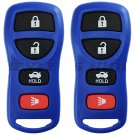 2 New Blue Keyless Entry Remote Key Fob Clicker Control Alarm for KBRASTU15