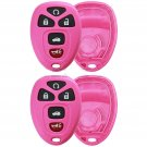 2 New Pink Replacement Keyless Entry Remote Case Housing Pad Shell Key Fob Fix