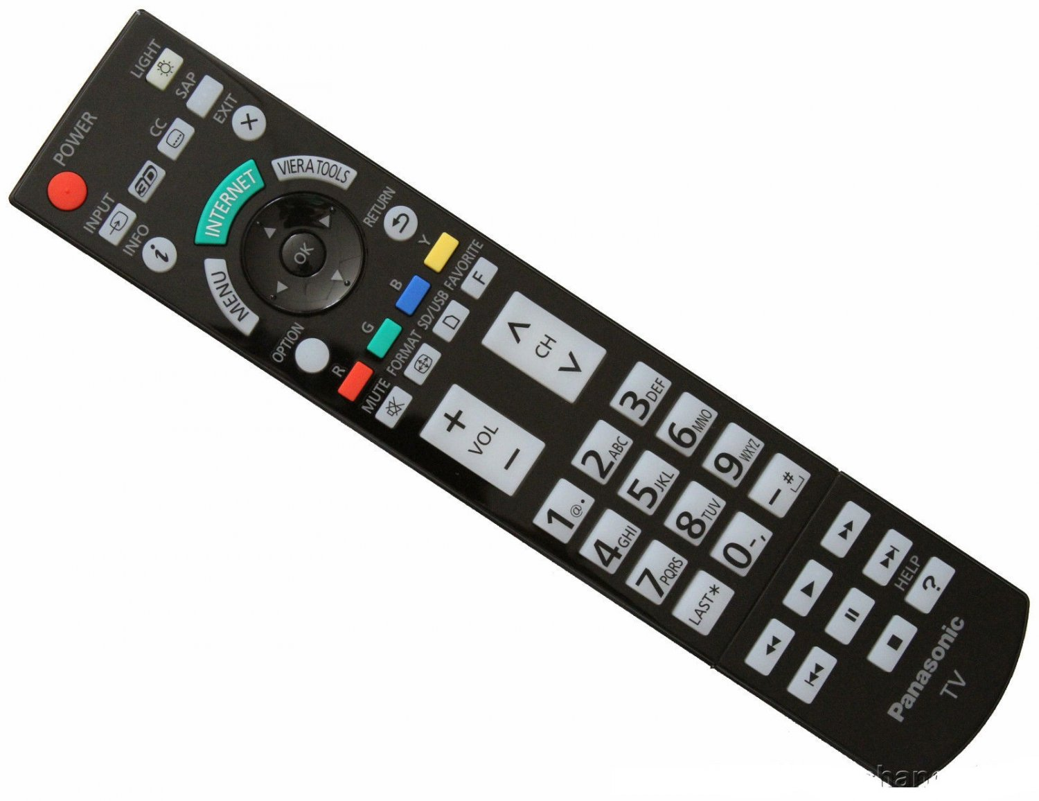 New Panasonic N2qayb000703 Smart 3d Full Hdtv Remote border=