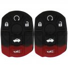 2 New Replacement Keyless Entry Remote Key Fob Shell Case Rubber Button Pad