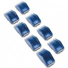 8x Andis Royal Blue 12990​ Large Animal Universal Combs