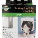 PetSafe 4-Way Locking Cat Door PPA00-11325 White Interior/Exterior w/Tunnel