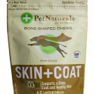 Pet Naturals Skin + Coat for Dogs Bone-Shaped 45 Chews